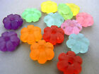 10mm 60pcs FROSTED ASSORTED ACRYLIC PLASTIC FLOWER BEAD FF5948
