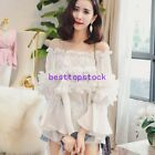 Fairy Womens Off Shoulder White Sexy Chiffon Seven Sleeve Tops Blouse Shirts Hot