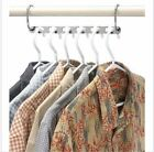 2/4/6PCS Adjustable Stainless Clip Stand Clothes Hanger Space Clothes Organizer