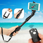 Extendable Selfie Stick Monopod + Bluetooth Remote Shutter For Iphone X Samsung