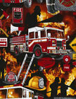 Timeless Treasures Firefighting Cotton Quilt Fabric