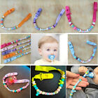 Chic Newborn Baby Bling Beads Dummy Soother Pacifier Holder Clip Strap