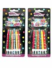 DESIGNER BIRTHDAY CANDLES & CAKE DECORATION - 2 Designs - Same Day Despatch