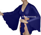 Navy Blue TMS Flair Wrap Top Tie Belly Dance Choli Gypsy Tribal 25 Color
