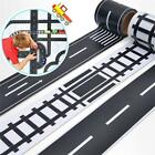 Room Floor Wall Children Bedroom Stickers Tape Removable Car Road Track Play LD