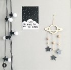 10Pcs Wood Shiny Star Raindrop Wall Hanging Sticker Kids Baby Room Nursery Decor