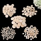 Внешний вид - Unfinished Wooden Round Discs Embellishments DIY Rustic Art Crafts 10-50mm