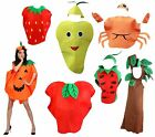 XMAS Halloween Party Fruit Vegetables Unisex Adult Costume Wear Clothing Set