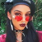 Small Oval Vintage Rockabilly Sunglasses Round Metal Frame Eye Glasses Womens