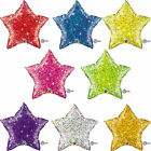 Qualatex Holographic Solid Colour Star Shape Foil Party Balloons {Helium}