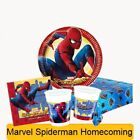Marvel SPIDERMAN HOMECOMING Birthday Party Range Tableware Supplies Decorations
