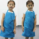 Kids Children Cute Pocket Craft Plain Baking Cooking  Kitchen Dining Aprons