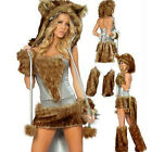5Pcs/Set Fur Animal Sexy Cat Bear Girl Adult Women Costume for Cosplay Halloween