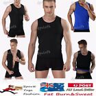 Mens Top Hot Body Shaper Belly Fat Burner Vest Shirt Waist Training Corset Slim