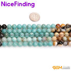 8,10mm Natural Round Multi Color Amazonite Loose Stone Beads Jewelry Making 15""