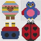 Fat Cat Cross Stitch Easy Peasy Range, ideal for beginners , 4 designs