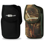 For MOTOROLA Phones RUGGED Nylon Carry Case Holster Pouch + Metal Belt Clip, New