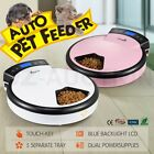 Digital Automatic Pet Feeder Dog Cat Bowl Food Dispenser LCD Display 5 Meals