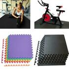 168Sq - 216 Sq BLACK Eva Foam Floor Interlocking Exercise Mat Gym Playground Pad image
