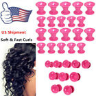 30pc Silicone Hair Curler Magic Hair Care Rollers No Heat Hair Styling Tool USA