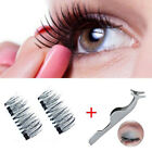 False Eyelashes Natural Eye Lashes Extension Handmade 4 Pcs/Pair 3D Magnetic