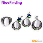 Fashion Assorted Stone Decoration Earrings Ring Pendant Jewelry Sets For Women