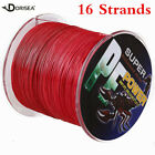 16 Strands 100M-2000M 6-300LB Red Super Strong pe Dyneema Braided Fishing Line