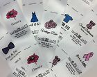 Personalised sew in clothing garment label craft business handmade bespoke