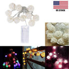 10 LED Color Rattan Ball String Fairy Lights For Xmas Wedding Party LED