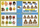 EMOJI MOVIE film inspired body nail temporary TATTOOS waterproof  LAST1 WEEK+