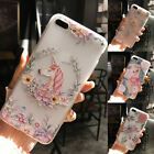 Cute Clear 3D Unicorn Flamingo mobile Phone Case Cover For Apple iPhone 6 7 plus