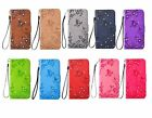 Fashion Bling Diamond Wallet Card Stand Flip PU Leather Case Cover Lot Phones