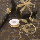 Christmas Black Holly Patterned Kraft Brown Wrapping Paper 5 / 10 metres