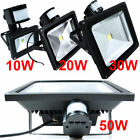 10W 20W 30W 50W PIR Motion Sensor LED Flood Light Spotlight Outdoor Day White