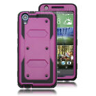 Hybrid Shockproof Protective Hard Rubber Case Cover For HTC Desire 626 626S