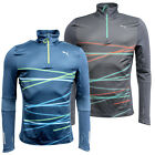 Puma Graphic Long Sleeve Mens 1/2 Zip Pull Over Fitness Running Top 512516