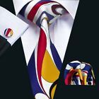 USA Classic Mens Tie Pink Red Blue Green 66 Color Silk 100% Jacquard Necktie Set