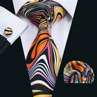 USA Classic 50 Colors JACQUARD WOVEN Wedding Men's Silk 100% Tie Necktie Set