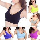 FLWomen Smooth Thin Seamless Bra Sport Push Up Shakeproof Yoga Camisol Girls NEW