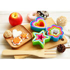 Colourful Star Flower Shape Cookies Cutter Cake Mould Plastic Cutter Pastry 5pcs