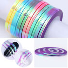 3pc Mermaid Nail Striping Tape Candy Color Line 1-3mm Adhesive Nail Art Stickers