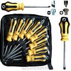 6 & 8 PCs Extra Safe Flat/Philips Screwdriver Set Magnetic Tips With Carry Case