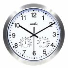 Hippih 12 Inch Silent Non-ticking Wall Clock- Metal Frame Glass Cover New