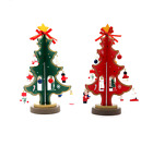 Mini DIY Cartoon Wooden Christmas Tree Gift Home Table Decoration Ornament Red