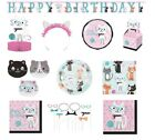 PURRFECT PARTY Birthday Range NEW Tableware Balloons Decorations Supplies