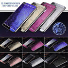 Fits iPhone 5S 6S 7 3D Diamond Color Temper Glass Front + Back Screen Protector