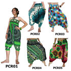 Pants PCR1-5 Thai 2in1 Jumpsuit Harem Yoga Boho Genie Aladdin Baggy Flowy Women