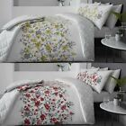 Gabriella Floral Duvet Covers Modern Poppy Print Easy Care Cotton Blend Bedding