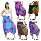 Pants PCR1620 Thai 2in1 Jumpsuit Harem Yoga Boho Genie Aladdin Baggy Flowy Women