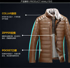 New winter Mens real leather Down jacket fur clothing duck down jacket coat